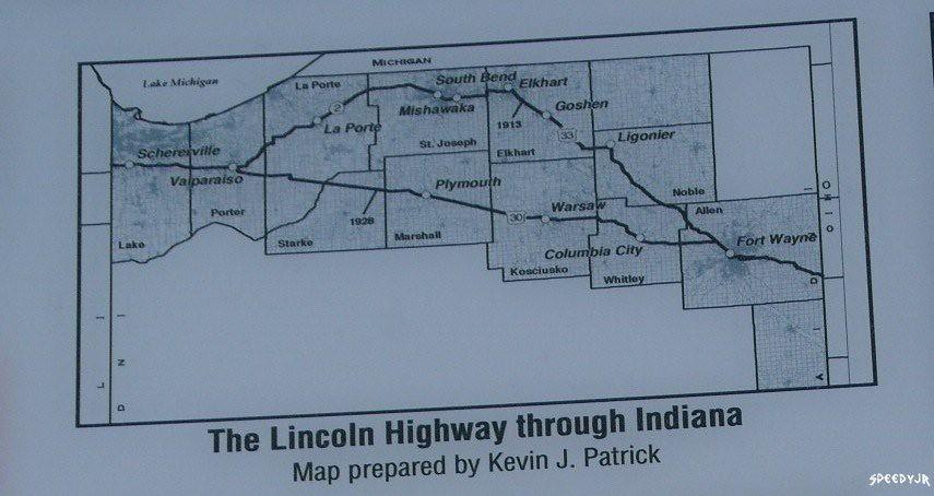New Carlisle Indiana Map.Historic Lincoln Highway Indiana Map New Carlisle Indiana Flickr