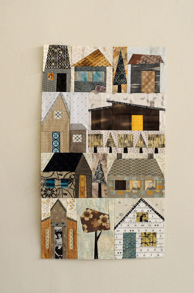 Machine Paper Foundation Piecing Houses Flickr