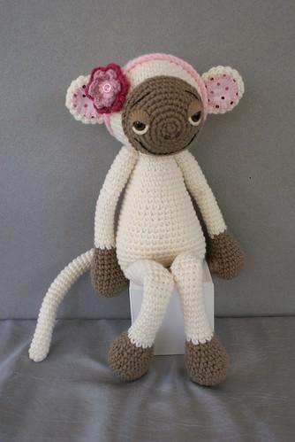 Amigurumi Tutorial Mono : White Amigurumi Monkey (Marlie) Custom order for Joy ...