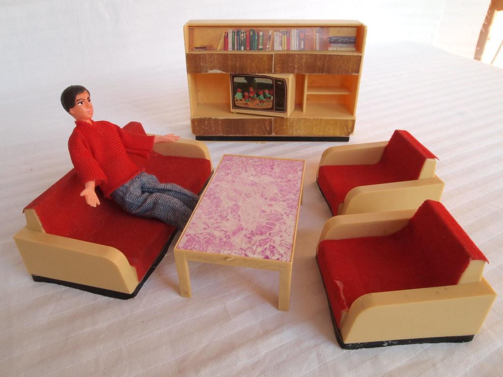 ... Diepuppenstubensammlerin 1960er 1970er JEAN Möbel   Wohnzimmer | By  Diepuppenstubensammlerin