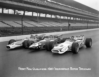 Front row of the 1967 indianapolis 500 mario andretti for Indianapolis motor speedway com