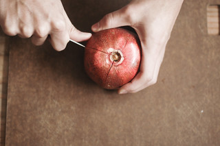 How to Cut and De-Seed a Pomegranate | by TheSophisticatedGourmet