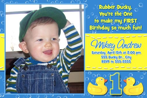 Rubber ducky 1st 2nd 3rd birthday invitation blue yellow flickr rubber ducky 1st 2nd 3rd birthday invitation blue yellow by poshnchicprints filmwisefo
