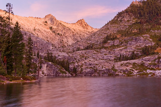 Sunrise on Thompson and Wedding Cake Peaks from Lower Canyon Creek Lake | by Scott_E_Gibson