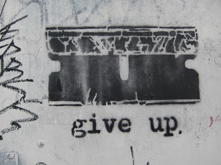 give up | by .imelda