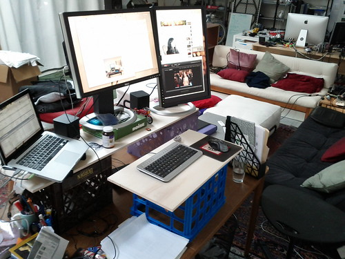 Make-shift standing desk | by ario_
