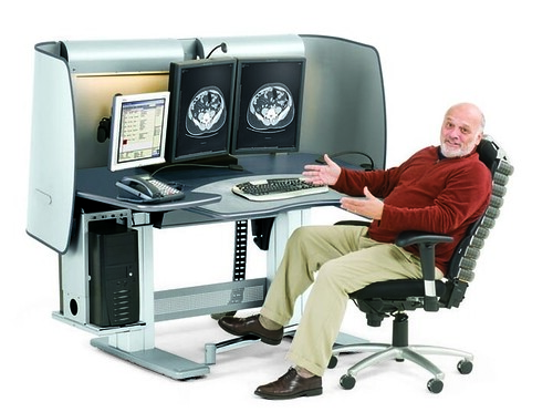 Anthro Carl S Table Ct08 Ergonomic Radiology Desk Carl S
