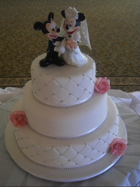 Mickey and Mini Mouse Wedding cake   Top: Fruit Cake. Middle…   Flickr