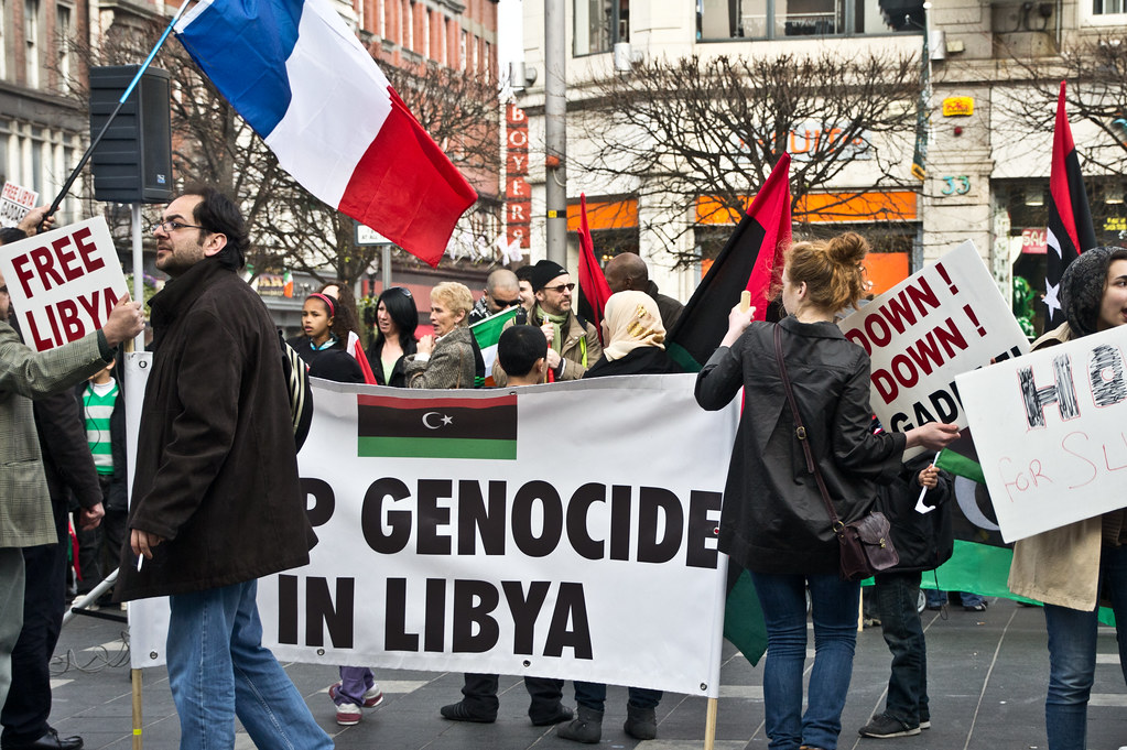 Libyans protesting in dublin stop genocide in libya flickr libyans protesting in dublin stop genocide in libya by infomatique sciox Choice Image