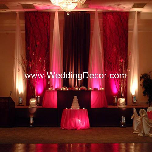 Brown Amp Fuchsia Wedding Reception