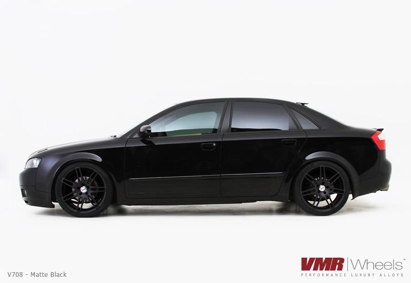 Vmr Wheels 19 Quot Matte Black V708 On Brilliant Black Audi