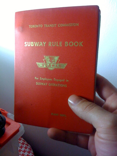 Subway Rule Book | by Sammy Dingbat
