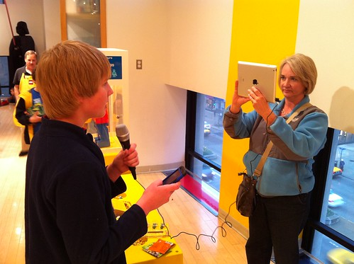 iPad Video Interview with iRig Mic at the Lego Store | by Wesley Fryer