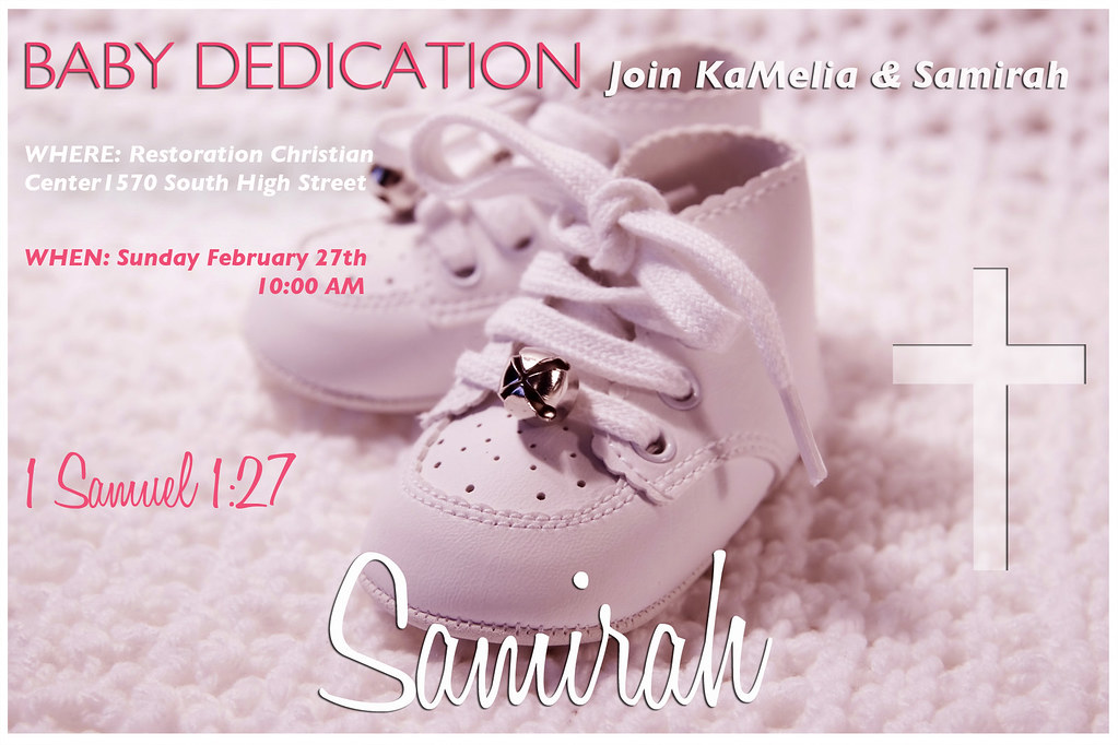 Cute Baby Dedication Invite Ideas - Invitation Card Ideas ...