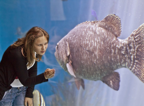 Girl kisses giant fish ! | by Roland Bogush