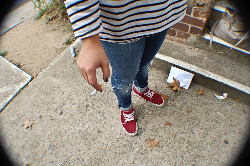 Vans, ripped jeans, cigarette. | Facebook: www.facebook.com/… | Flickr