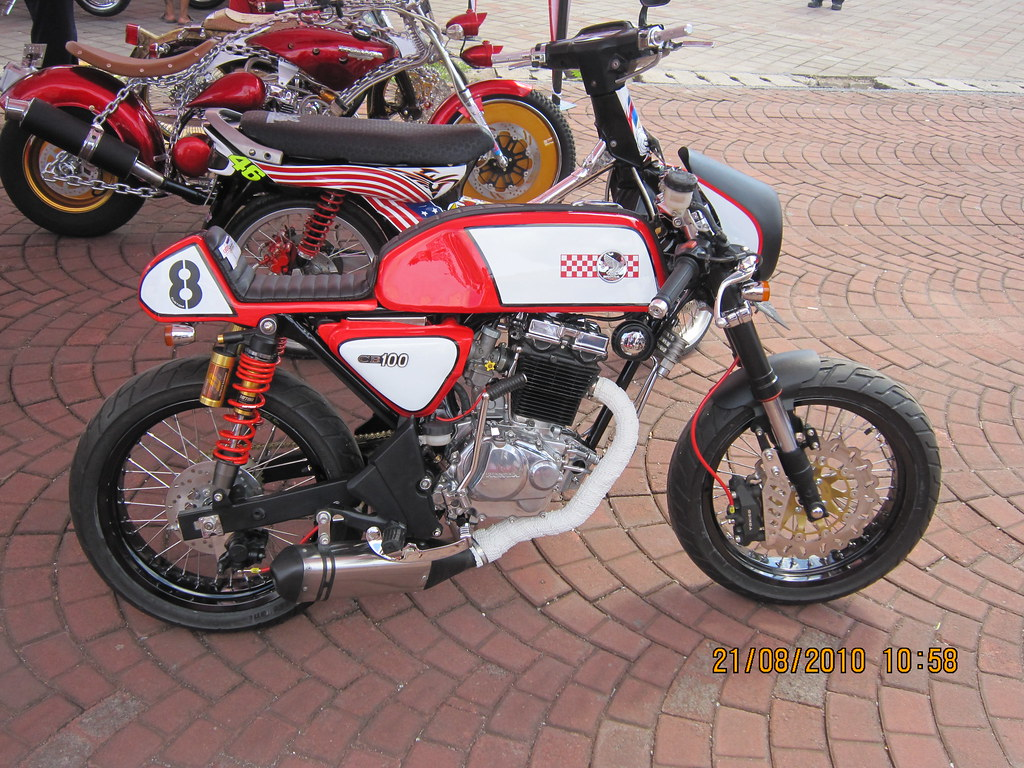 2nd Honda CB100 Cafe Racer 3 Berminat 0818554551