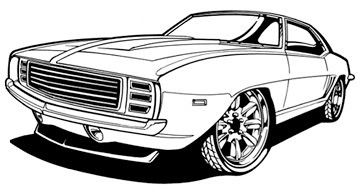 Camaro Line Art Hand Drawn And Inked Scanned High Res An Flickr