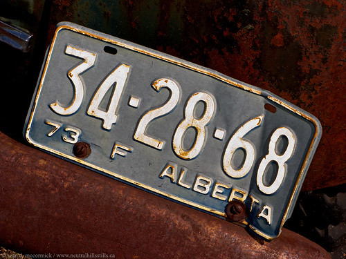 '73 Alberta farm plate | by McCormick Photography