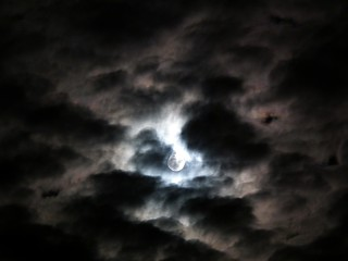 cloudy moon | by Helen Marie Brown