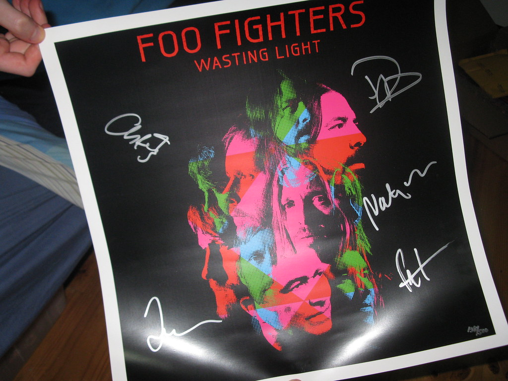 Signed Foo Fighter Lithograph