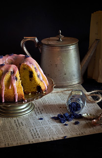 Old fashioned blueberry semolina cake | by Paper Kea