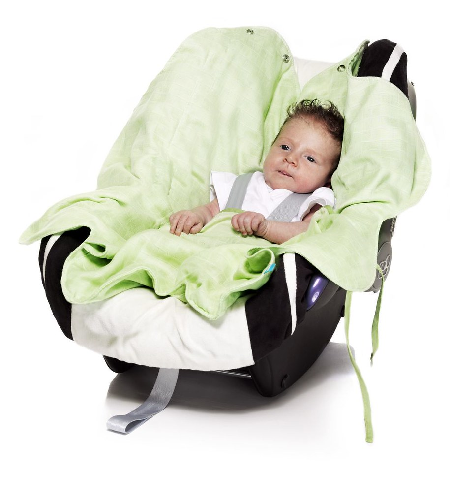 Baby Wrap Lightweight Cotton Green And Car Seat Beautiful Flickr