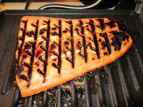 Salmon cooked on my new George Foreman Grill. | by TheGirlsNY