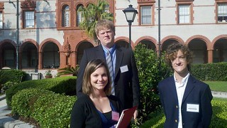 Carlee Hoffmann (Class of 2013), Matt St. Jean (Class of 2011) and Sebastian Novak (Class of 2012) | by Rollins College