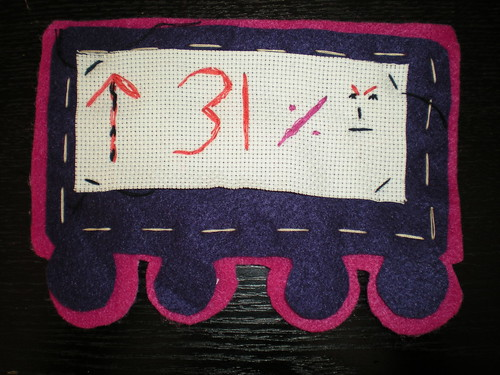 completed handcrafted carriage petitions for our train bunting | by craftivist collective