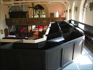 box pews in the gallery | by Simon_K
