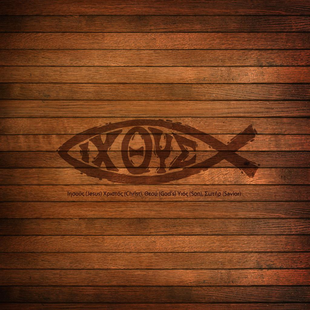 Jesus Fish Ichthys Ipad Scripture Christian Wallpaper Flickr