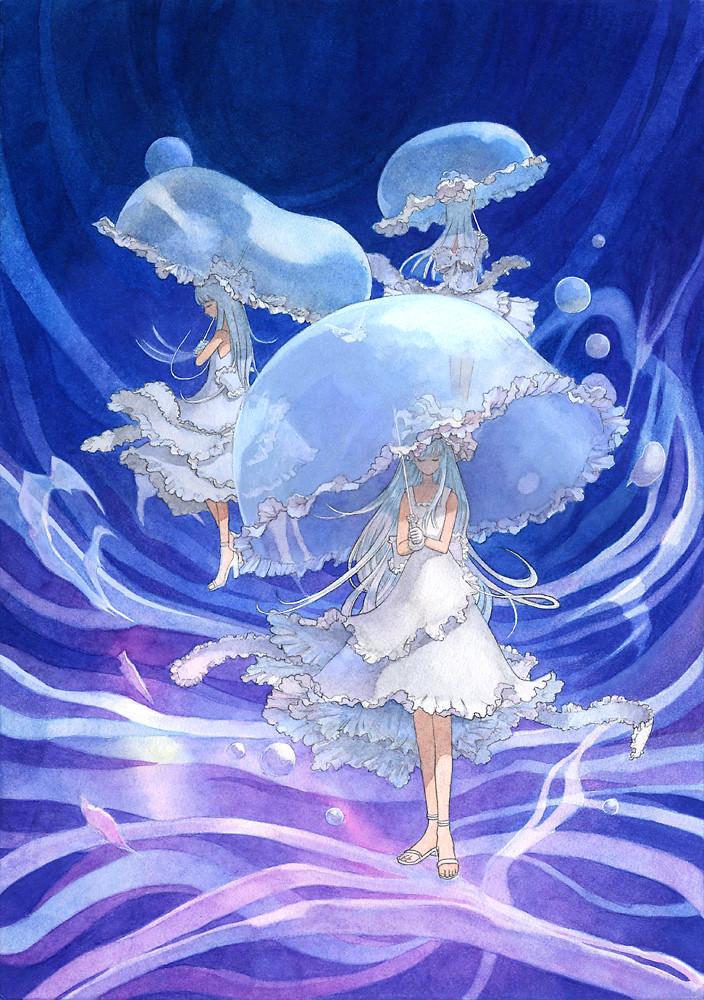 Beautiful Woman Underwater Rainbow Umbrella Stock Photo 86853595 ...