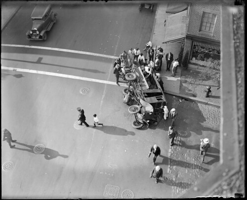 Truck wrecked by bus - Charles St. | by Boston Public Library
