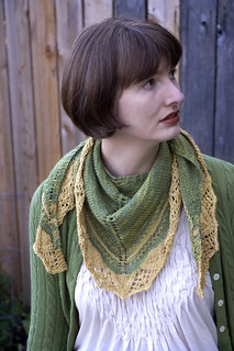 Arcadian Shawl modeled 1 | by Jejune Ennui