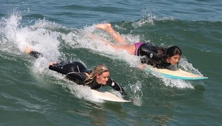 Tandem surfer girls | by San Diego Shooter