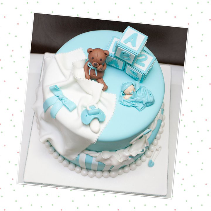 Baby Shower Teddy Bear Baby Cake Detailed Baby Shower Ca Flickr