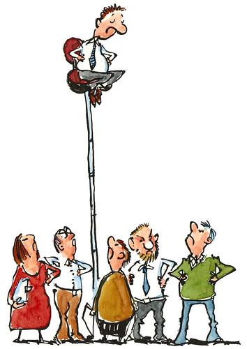 man-on-long-office-chair illustration