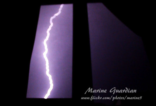 Lightning over a neighbor's house .. | by Marine Guardian .. ♫