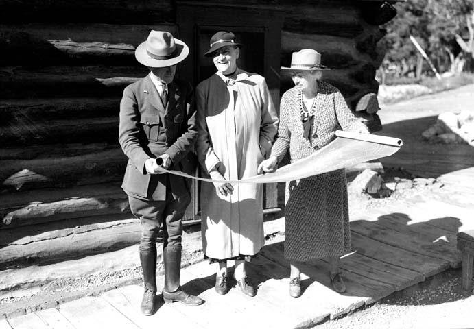 16942 Grand Canyon Historic_ Mary Colter Looking at Plans c. 1935