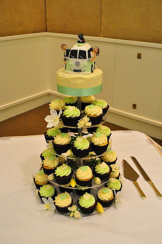 Mint Green And Cream Wedding Cupcakes