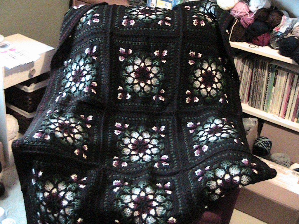Stained Glass Window Afghan In Book 50 Sensational Crochet Flickr