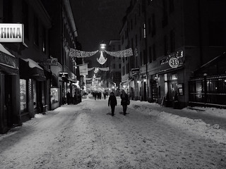 Snowy Stockholm at night | by The Globetrotting photographer