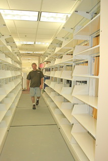 Walking through the new system with clean shelves from the old system | by Alkek Library