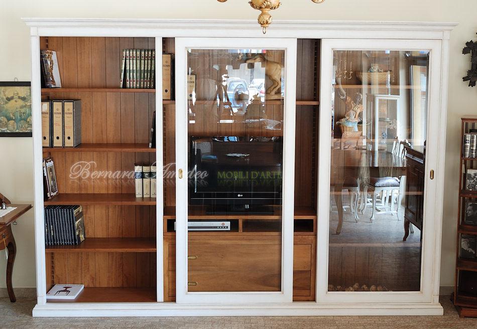 LB65 - Libreria porta Tv con 2 ante scorrevoli a vetro, la… | Flickr