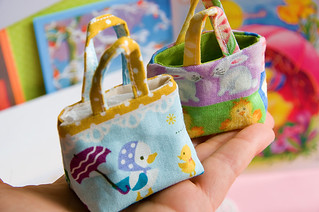 sweet doll purses in my hand...handmade by Gitten's Toys | by sugarelf