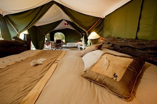 Inside the tents at Sala's | by TheSafariCollection