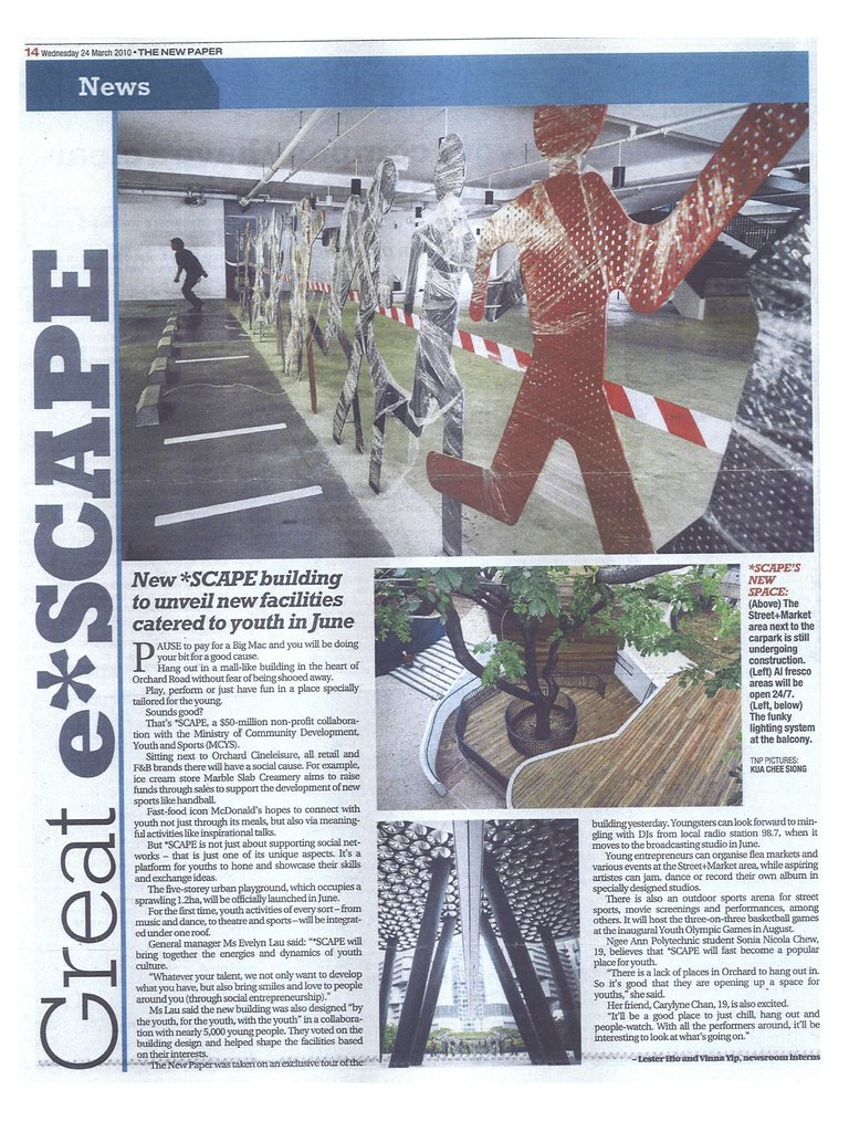 TNP 24 March 2010 - Great e*SCAPE - News | *SCAPE (somerset
