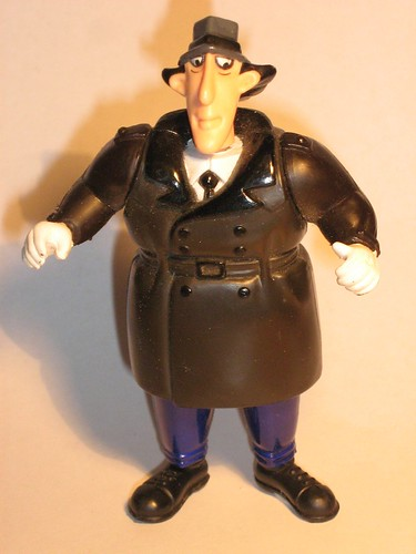 fast food inspector gadget figure inflated jacket go-go ga