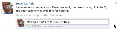Facebook Comment Editing | by stevegarfield